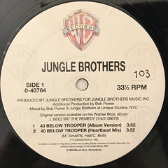 JUNGLE BROTHERS:40 BELOW TROOPER(LABEL SIDE-A)