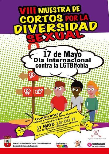 Cartel Día Interncional contra la LGTBIfobia en Dos Hermanas