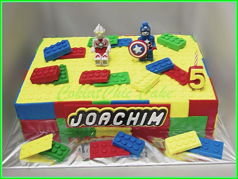 Cake Lego Superhero JOACHIM 20x30 cm