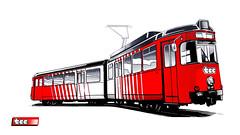 Graphisme - Tramway Düwag 300 TCC Lille.