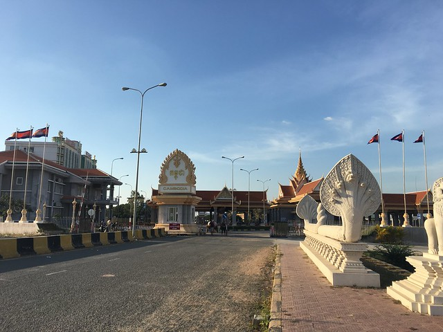 国境カンボジア側