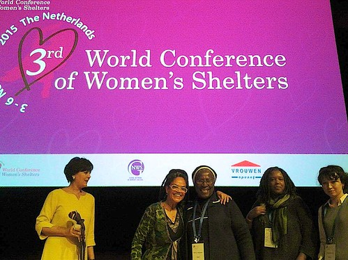 Sr Patricia at the 3rd World Conference on Women's Shelters in the Hague, Netherlands