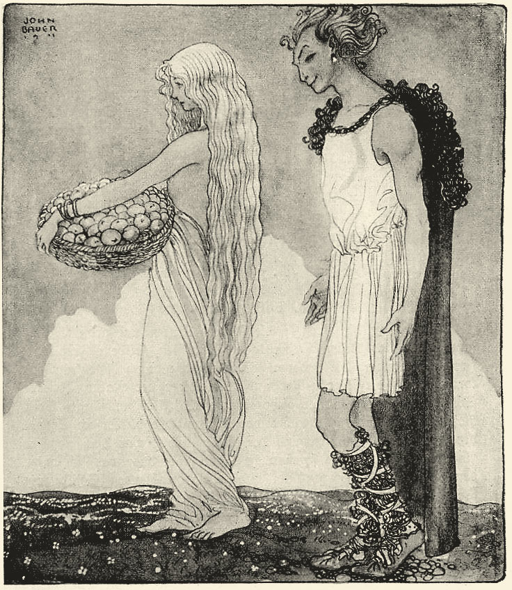 Loki_and_Idun_-_John_Bauer