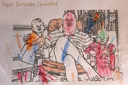 Happy birthday Grandad Weaver 1 May 2018