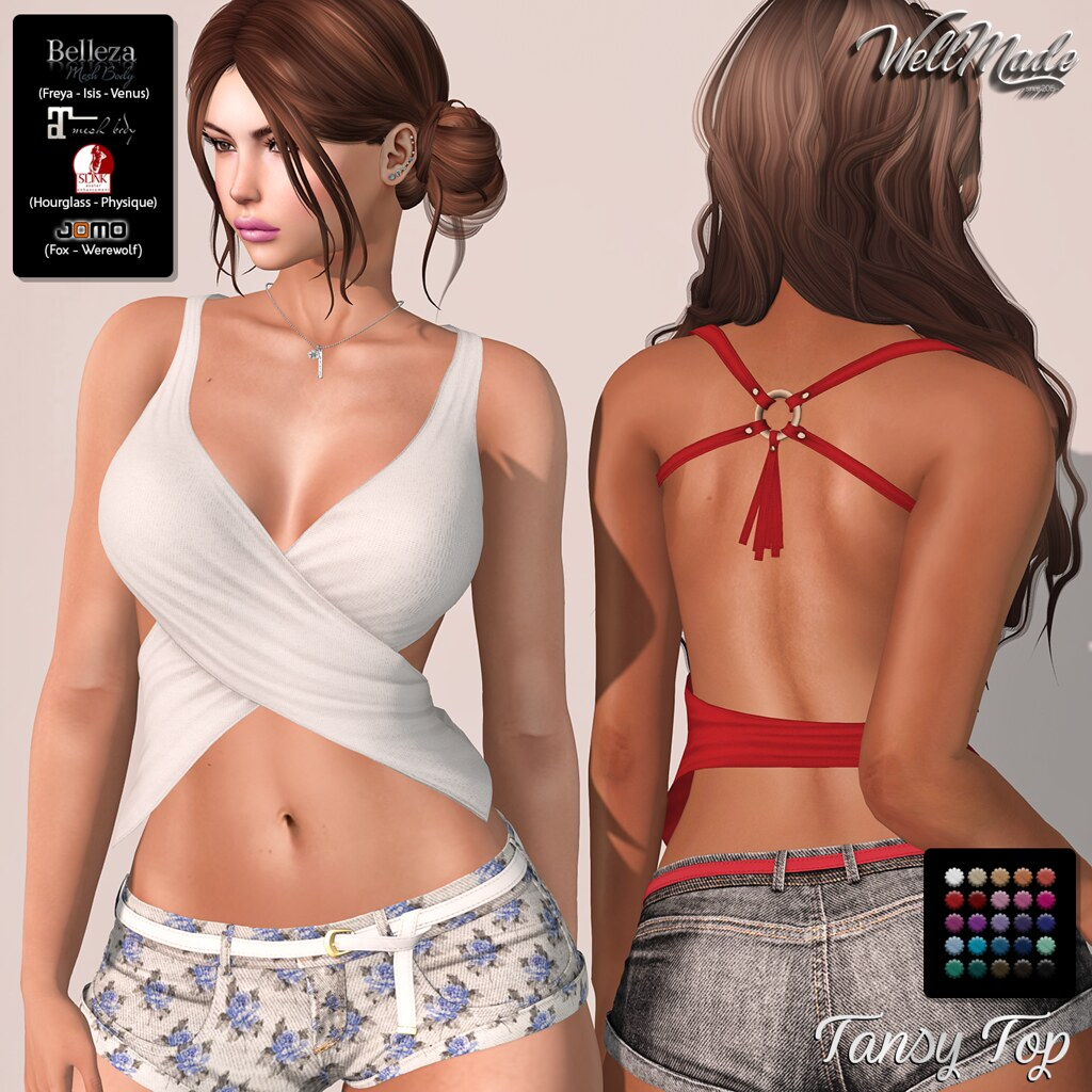 [WellMade] Tansy Top
