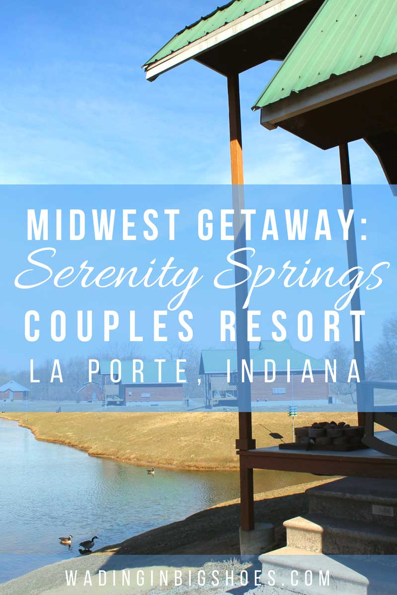 Our Midwest Weekend Getaway at Serenity Springs Resort - (via Wading in Big Shoes) // Serenity Springs, located just outside Michigan City in Laporte, Indiana, is a peaceful cabin resort that's perfect for couples looking to get away for the weekend. See photos and learn more about our stay here!