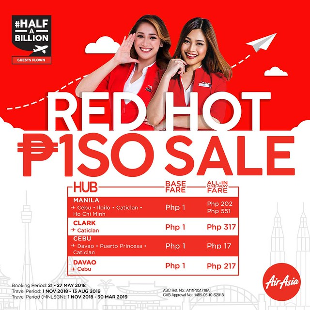 AirAsia Red Hot Sale - May 2018