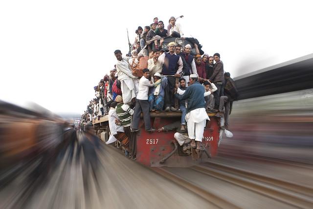 Risky journey by train
