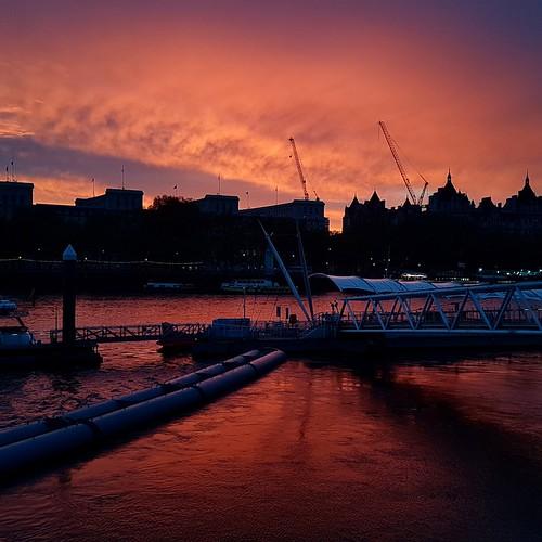 Londra: tramonto a Southbank