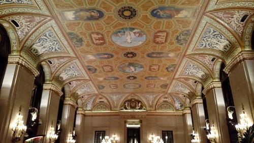 2018 April Palmer House lobby ceiling