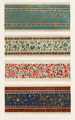 Specimens of painted lacquer work of Lahore from the Industrial arts of the Nineteenth Century (1851-1853) by Sir Matthew Digby wyatt (1820-1877).