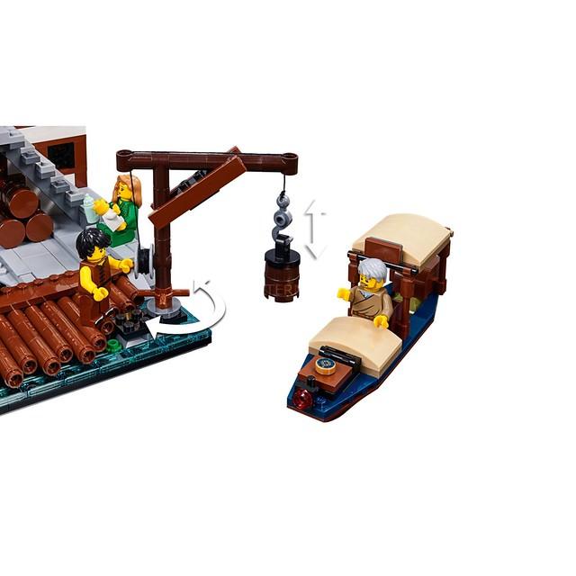 熱鬧無比的東洋風碼頭!! LEGO 70657《樂高旋風忍者電影》旋風忍者城碼頭 NINJAGO City Docks