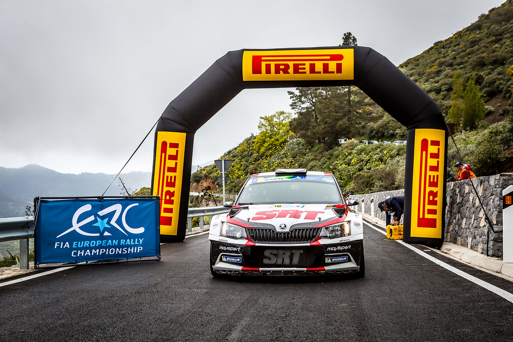 16 GRYAZIN Nikolay, FEDOROV Yaroslav, Sports Racing Technologies, Skoda Fabia R5, action during the 2018 European Rally Championship ERC Rally Islas Canarias, El Corte Inglés,  from May 3 to 5, at Las Palmas, Spain - Photo Thomas Fenetre / DPPI