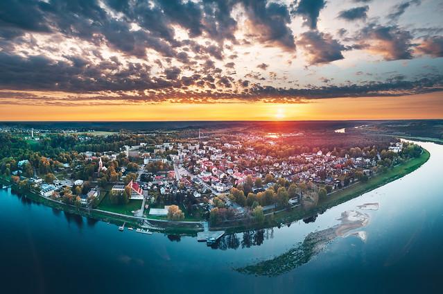 Birštonas | Aerial Panorama