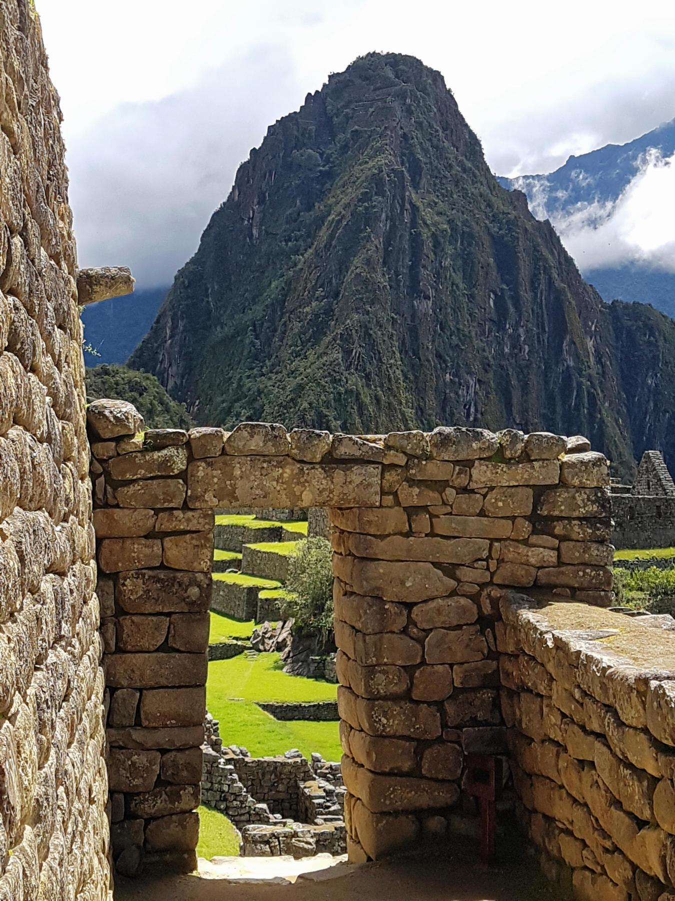 Inca archway at Machu Picchu
