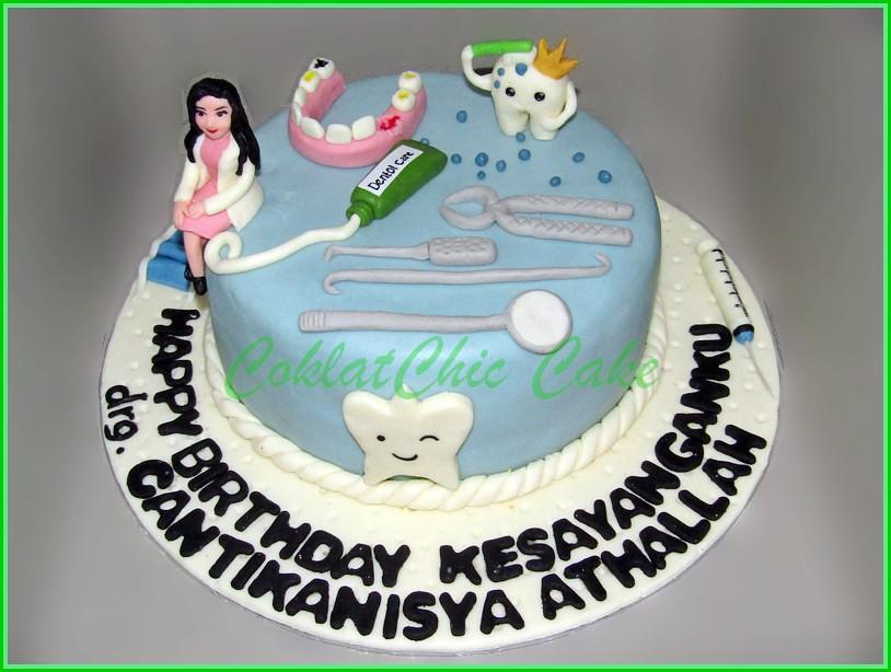Cake Dentist drg CANTIKANISYA 20 cm