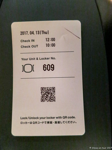 Thats all you get, a locker QR to put in the luggage. the next day 10am it automatically opens if you are there or not.