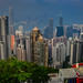 View of Hong Kong Skyline and Harbour from Victoria Peak - Hong Kong