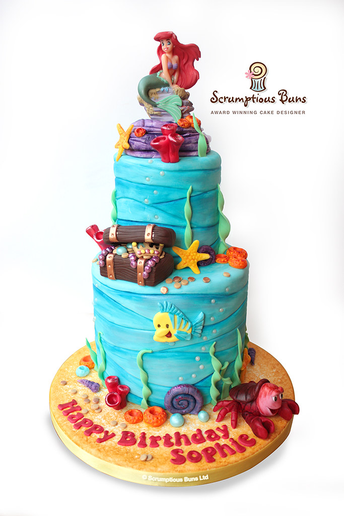 Little Mermaid Birthday Cake A Small But Tall 2 Tier Littl Flickr