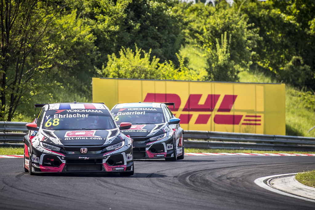 68 ERLACHER Yann (FRA), ALL-INKL.COM Munnich Motorsport, Honda Civic TCR, action during the 2018 FIA WTCR World Touring Car cup, Race of Hungary at hungaroring, Budapest from april 27 to 29 - Photo Gregory Lenormand / DPPI