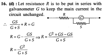 NEET AIPMT Physics Chapter Wise Solutions - Moving Charges and Magnetism explanation 16