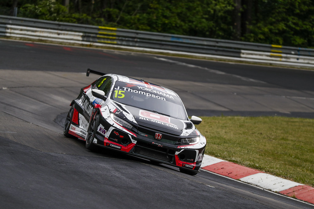 15 THOMPSON James (GBR), ALL-INKL.COM Munnich Motorsport, Honda Civic TCR, action during the 2018 FIA WTCR World Touring Car cup of Nurburgring, Germany from May 10 to 12 - Photo Florent Gooden / DPPI
