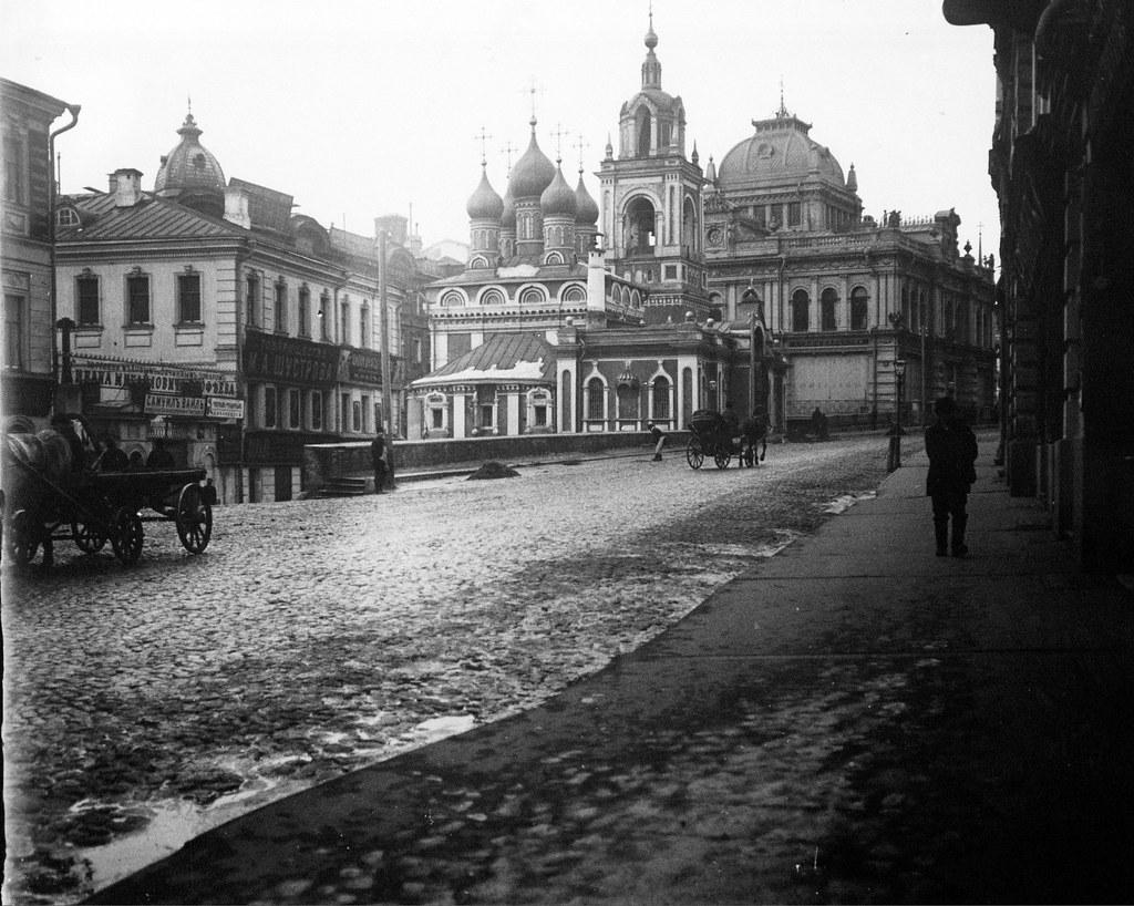 Варварка. Церковь Покрова Божией Матери у Кривого переулка. 1913