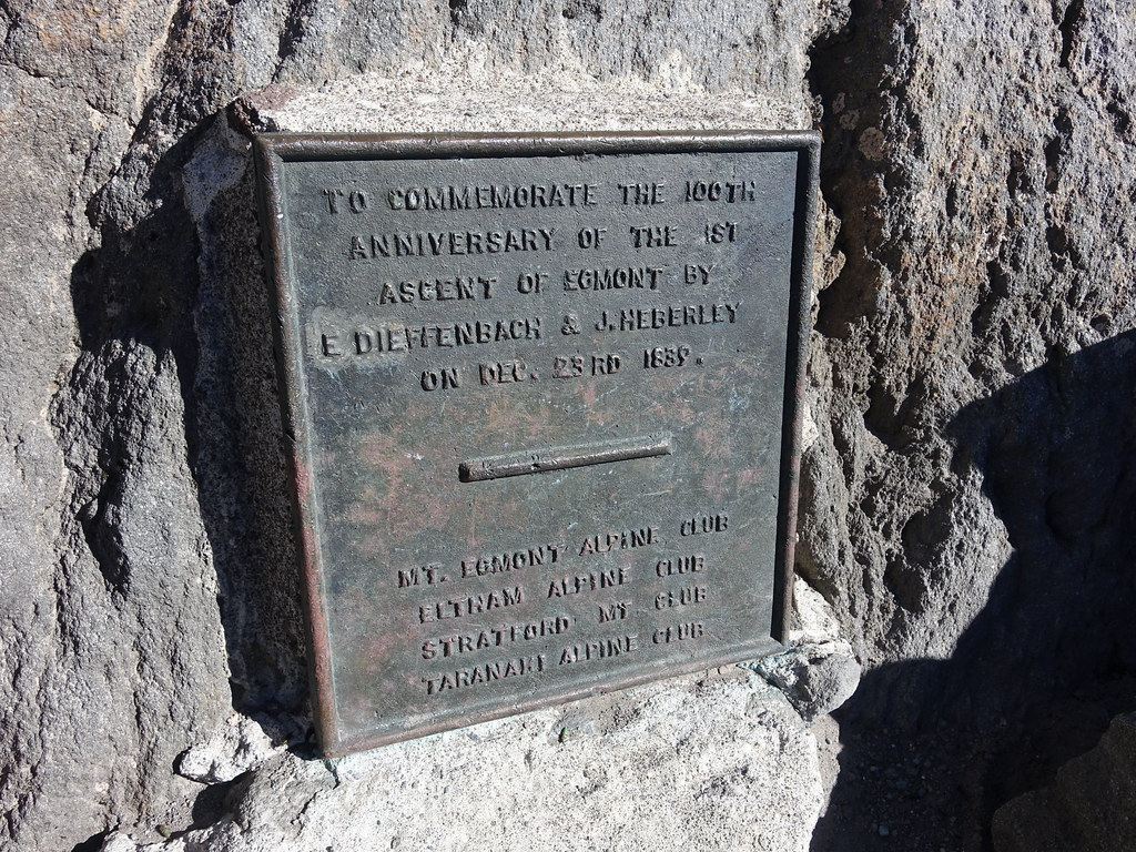 Summit plaque Mount Taranaki