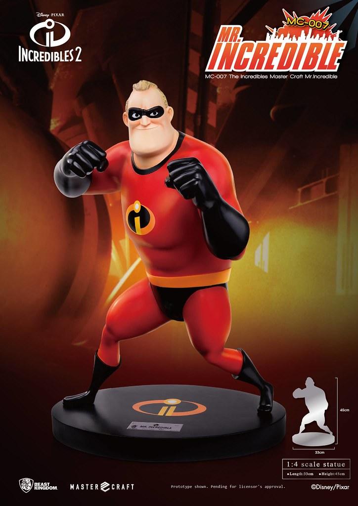 永不忘記英雄使命的熱血大叔!! 野獸國 Master Craft 系列《超人特攻隊》超能先生 The Incredibles Mr. Incredible MC-007 1/4 比例全身雕像作品
