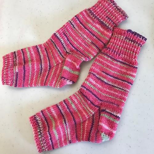 Trina's pedicure socks - so pretty!