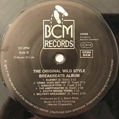 DJ BLACK STEAL:THE ORIGINAL WILDSTYLE BREAKBEATS ALBUM(LABEL SIDE-B)