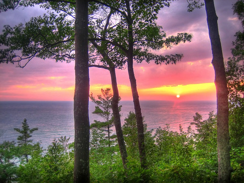 sunset sun lake colour nature beautiful wow amazing view sundown michigan horizon lakemichigan colourful hdr
