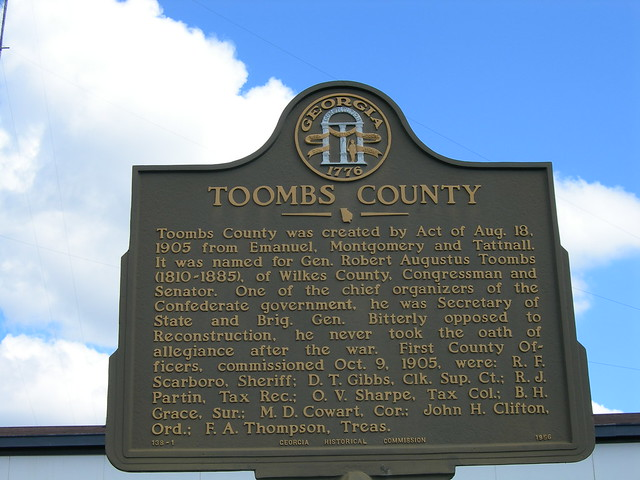 toombs county historic marker