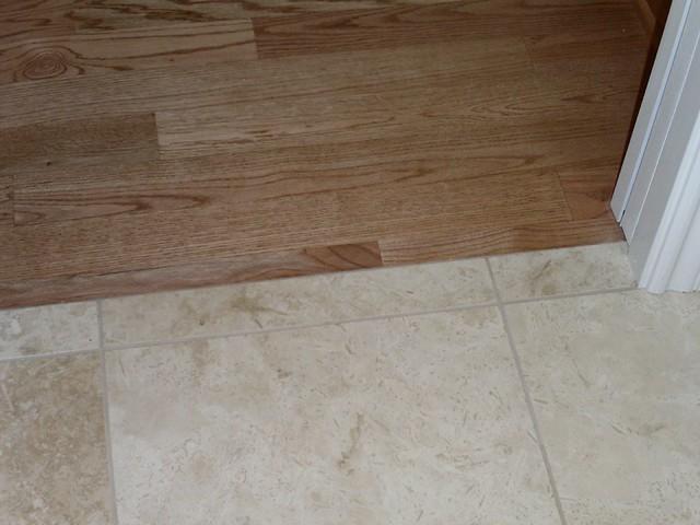 Oak Hardwood Floor Next To Tile Flickr Photo Sharing