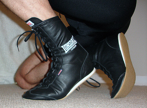 lonsdale black leather boxing boots flickr photo