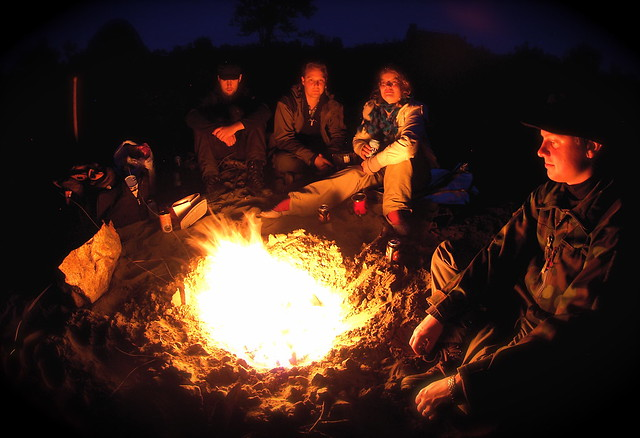 Campfire on Kaamanen road