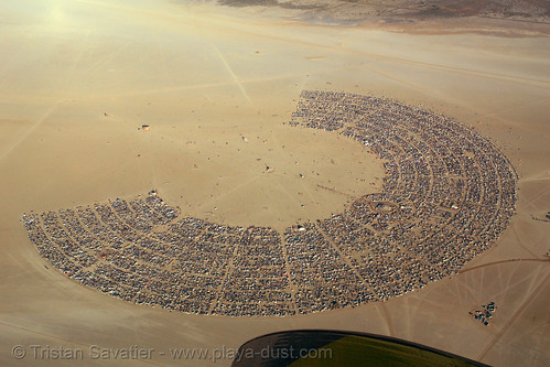10001 - Burning Man Aerial - Black Rock City (Nevada)