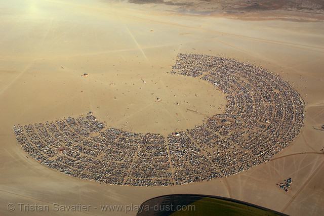 10001 - Burning Man Aerial - Black Rock City