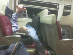 Making himself at home on Metro North