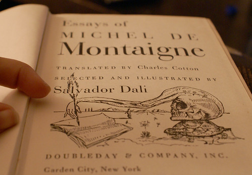 Montaigne and Dali- title