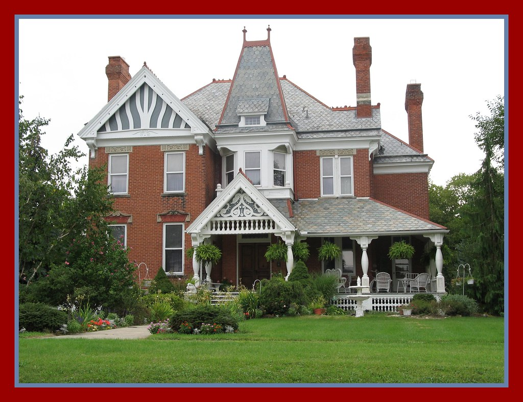 Victorian house grand rapids ohio second empire or for Mansard style homes