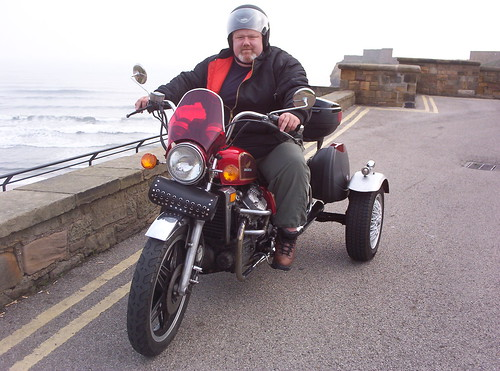 Motorcycle trike at Tynemouth