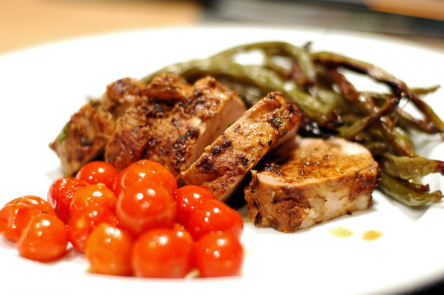 Fennel and Garlic Crusted Pork, Roasted Green Beans, Roast… | Flickr ...