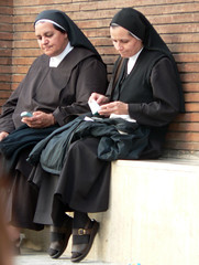 nun, clothing, woman, female, person,