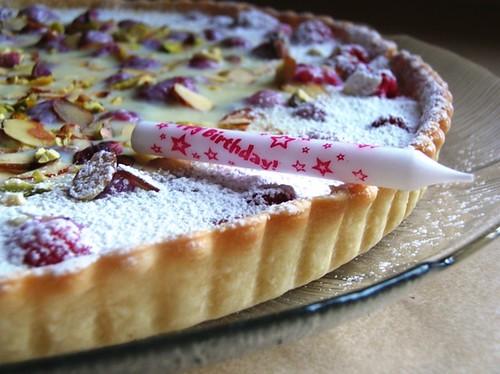 White Chocolate-Raspberry Tart