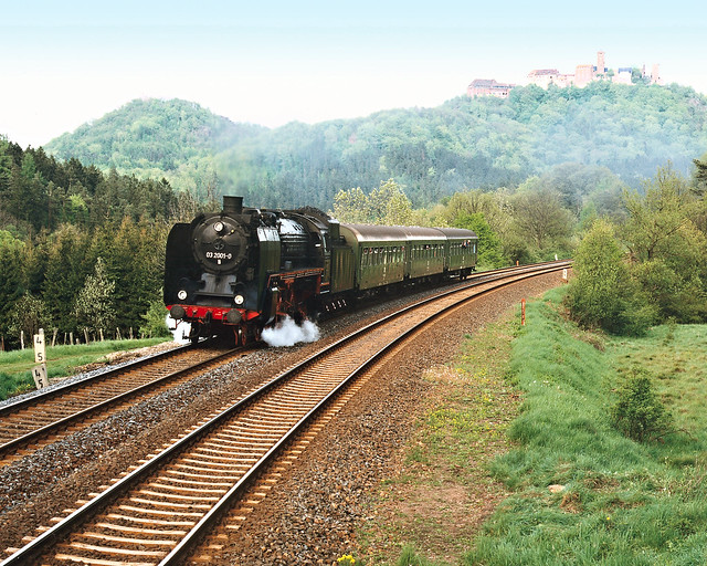 03 2001 met N7747 bij de Wartburg-Eisenach, 6 mei 1994