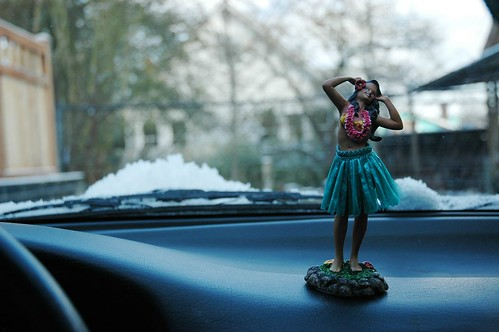 Island dancer on the dashboard of my NX 1600 by Wonderlane