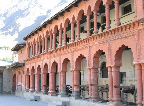 Chital Fort and former Mehtar's Palace, with canon