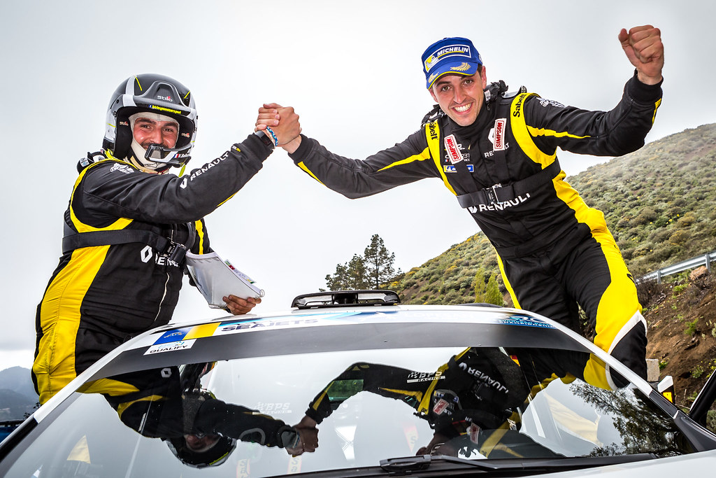 BERNARDI Florian, BELLOTTO Victor, Team Bernardi Florian, Renault Clio R.S., portrait during the 2018 European Rally Championship ERC Rally Islas Canarias, El Corte Inglés,  from May 3 to 5, at Las Palmas, Spain - Photo Thomas Fenetre / DPPI