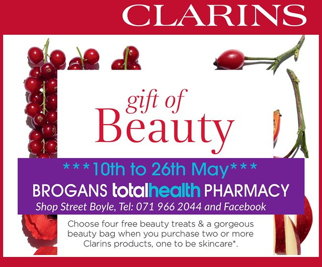 Brogans Clarins Promotion - May 2018